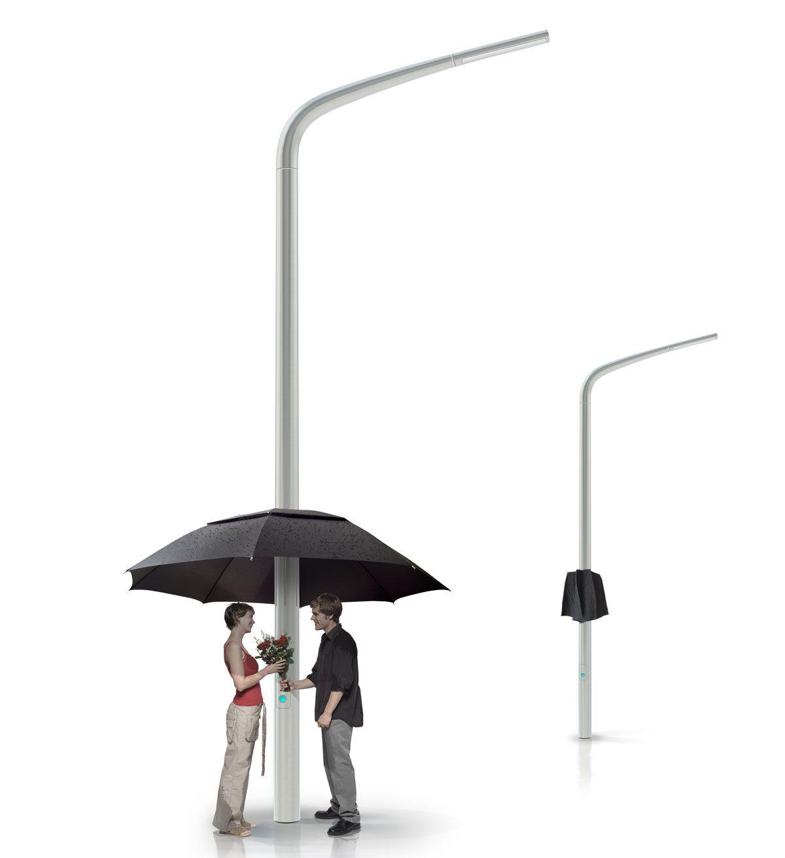 Transforming Street Lights into Pop-Up Umbrellas