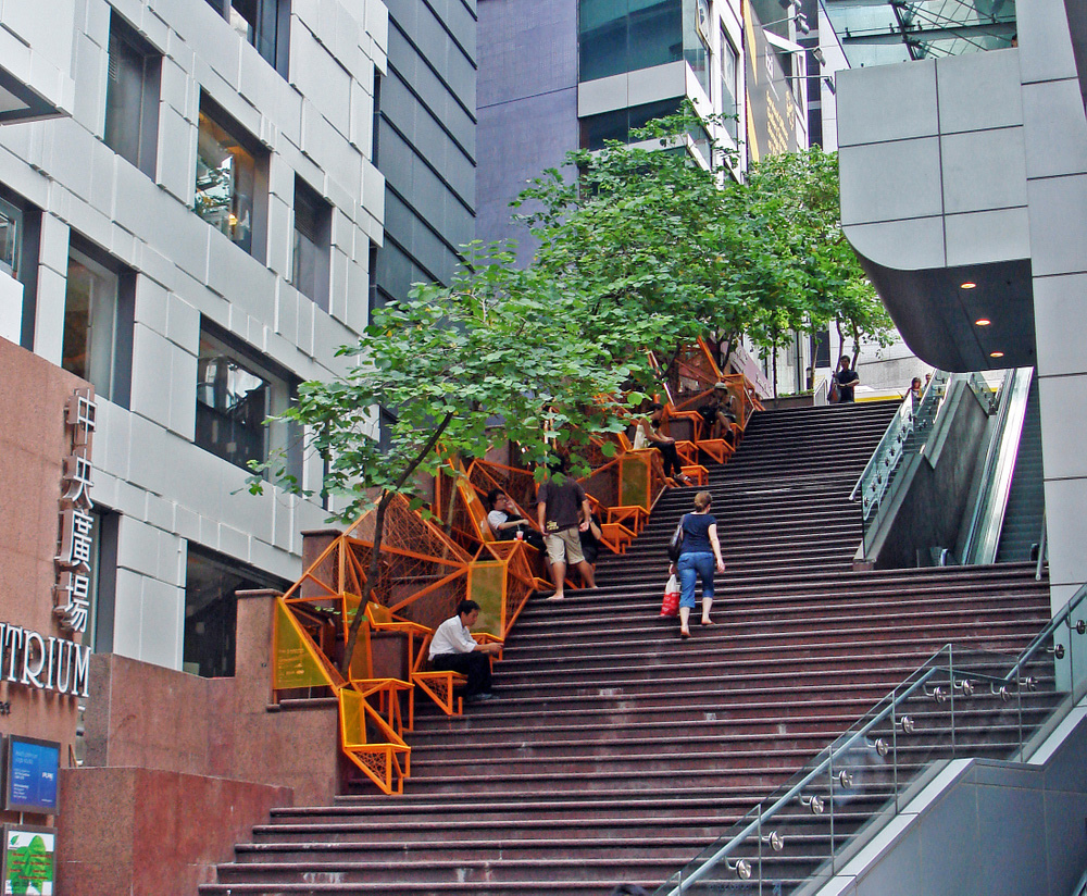 Doubling the Function of a Hong Kong Stairway