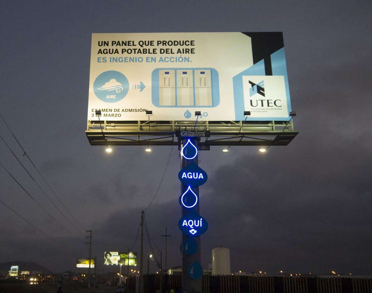 Transforming a Billboard to Generate Clean Drinking Water