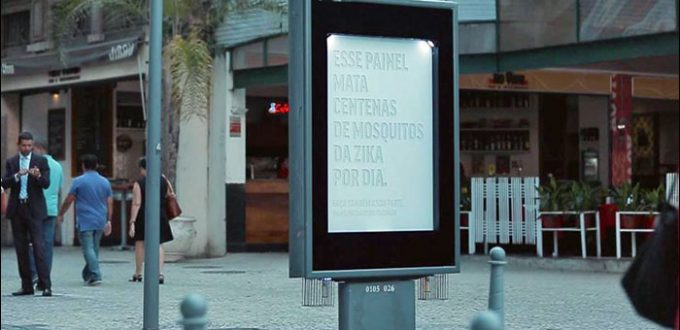 Rio de Janeiro Billboard Repurposed to Kill Zika Mosquitos