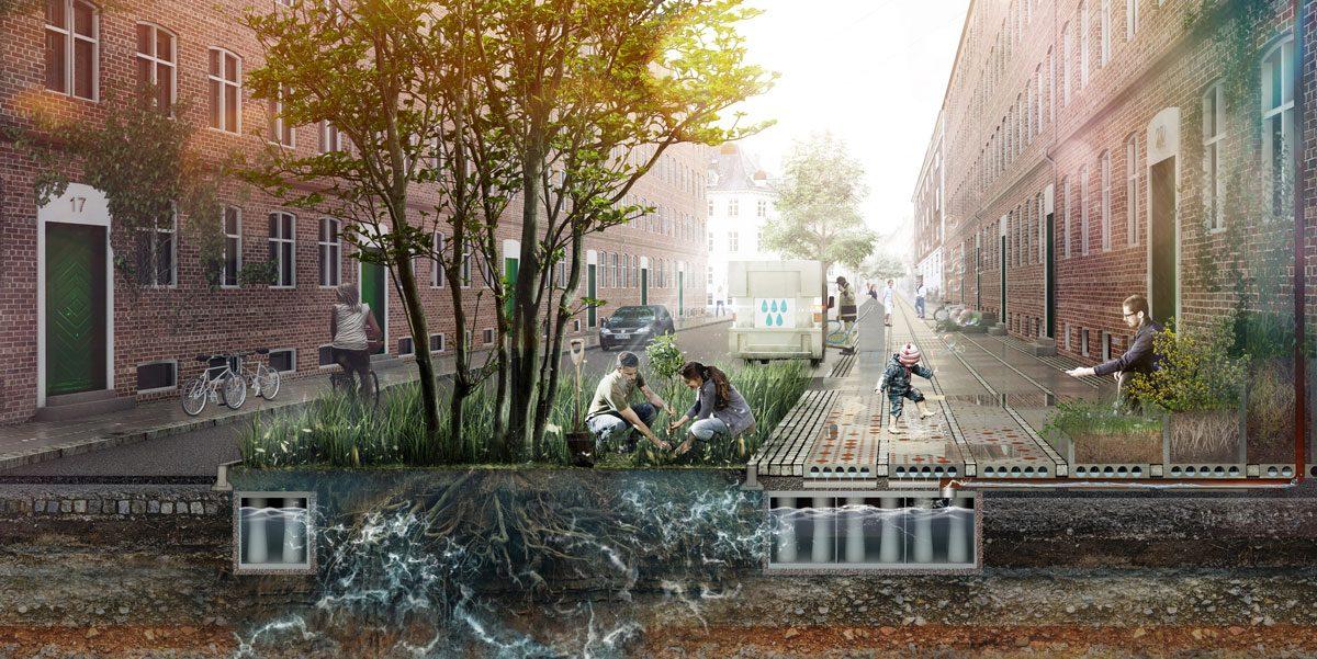 Sidewalk Tiles Reimagined to Mitigate Climate Change