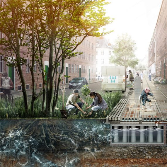 Sidewalk Tiles Reimagined to Mitigate Climate Change