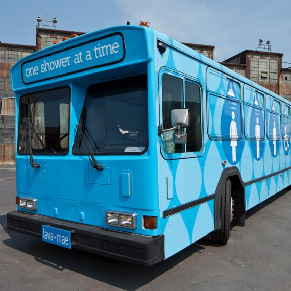 City Busses Repurposed as Mobile Hygiene Stations
